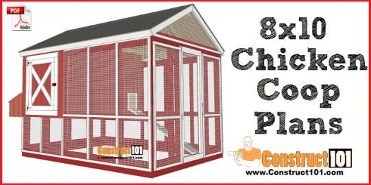 810 Chicken Coop Plans Gable Roof Free Pdf  Chickenhouses