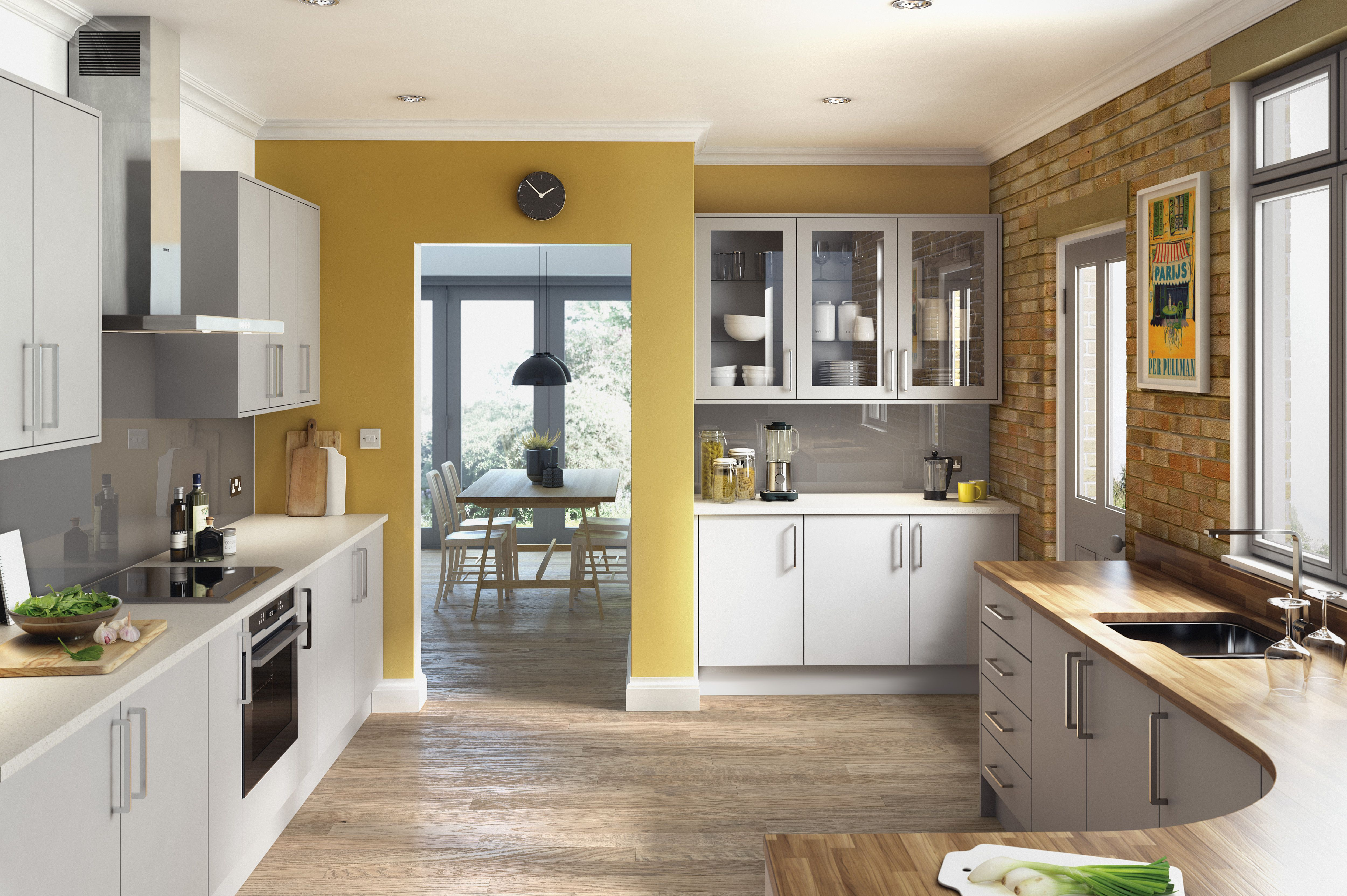 Matt Light Grey Fitted Kitchen | Contemporary kitchen ...
