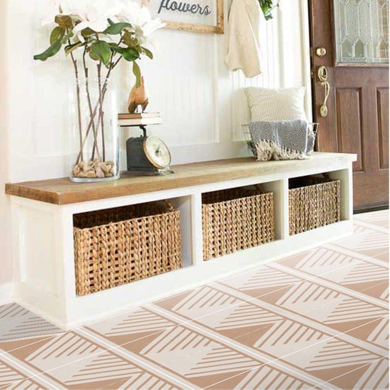 Vinyl Floor Tile Sticker Floor Decals Shaman Tile Sticker Etsy In 2020 Vinyl Flooring Floor Decal Tile Floor