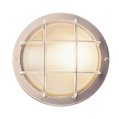 Access Lighting Nautical Satin Silver Large Round Sconce