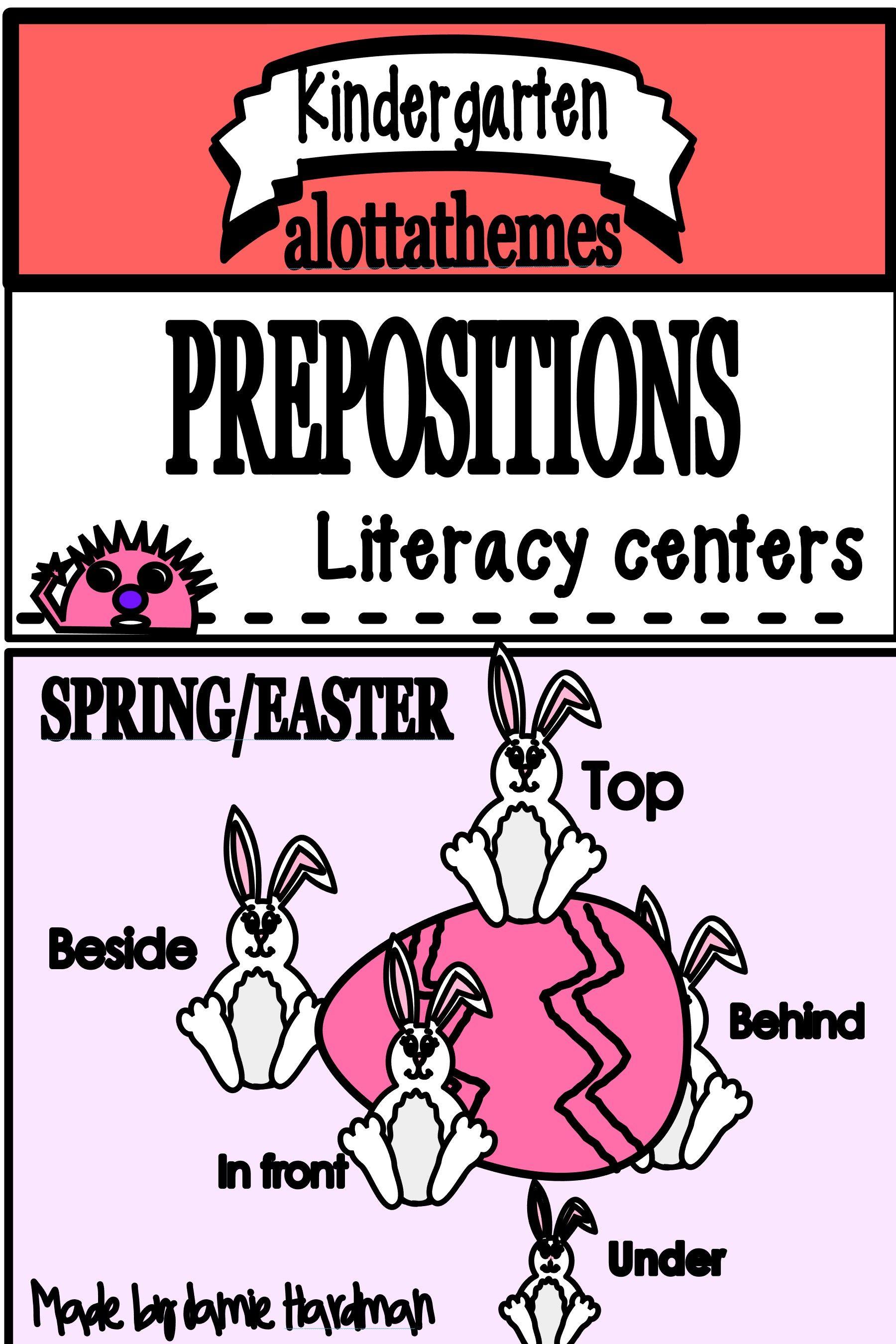 Preposition Amp Prepositional Phrases Literacy Centers