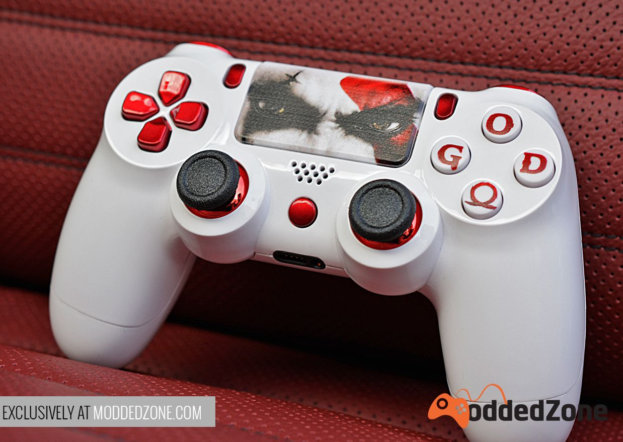 For All Of Our God Of War Fans Create And Customize Your Own Today At Www Moddedzone Com Cu Ps4 Controller Custom Ps4 Dualshock Controller Controller Design