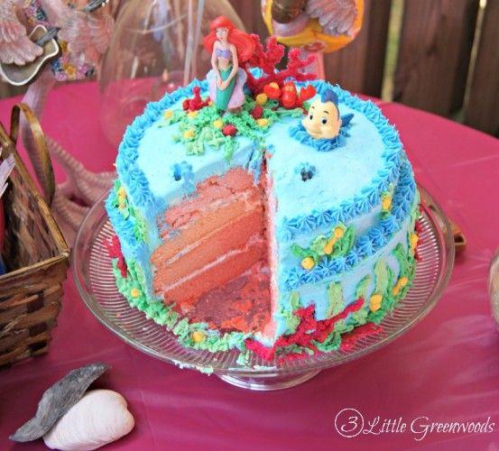 Mermaid Birthday Party Mermaid birthday cakes Mermaid birthday