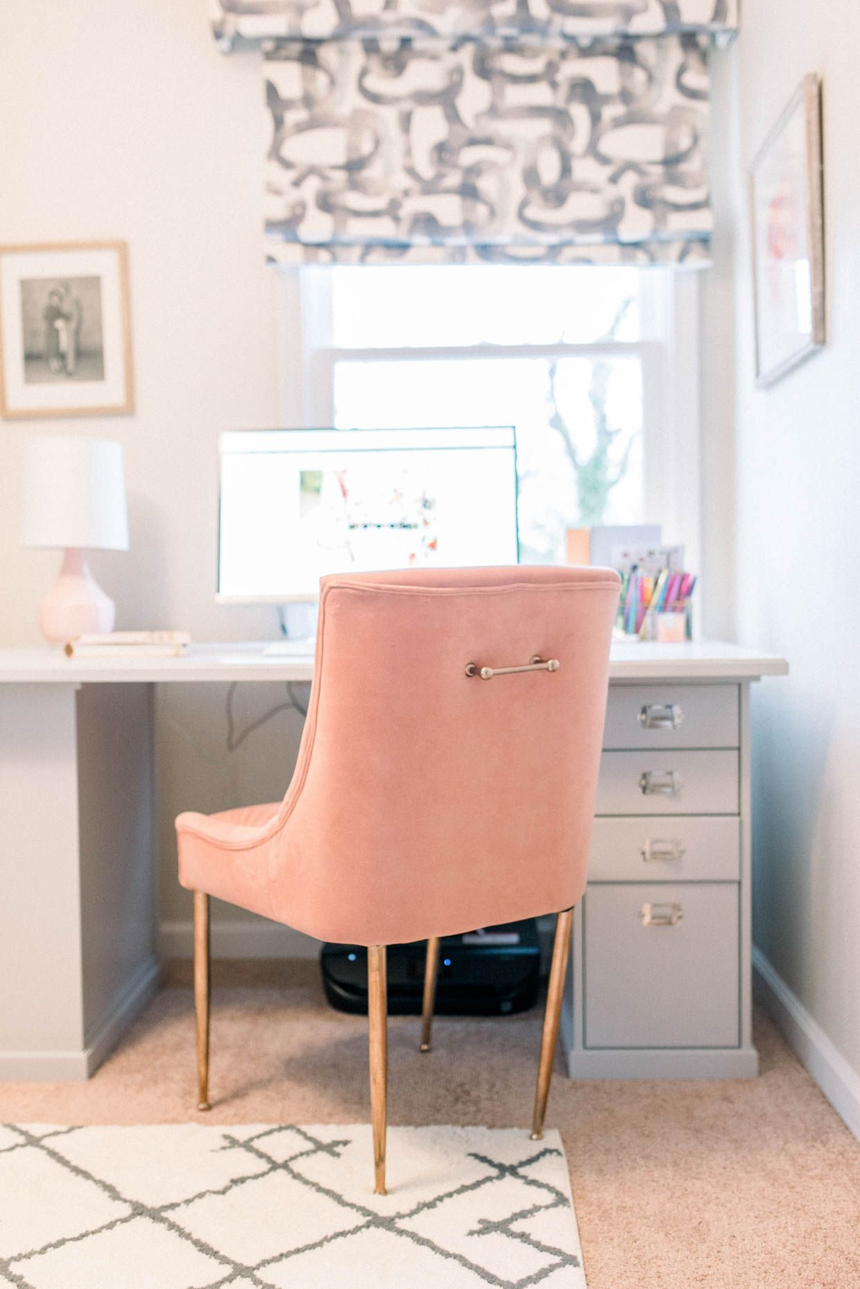 How I Decorate My Home Office Poor Little It Girl Guest Room