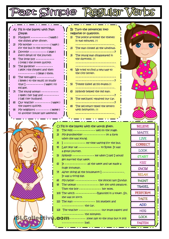 Past Simple Regular Verbs Regular Verbs English Grammar Quiz English Teaching Materials [ 1440 x 1018 Pixel ]