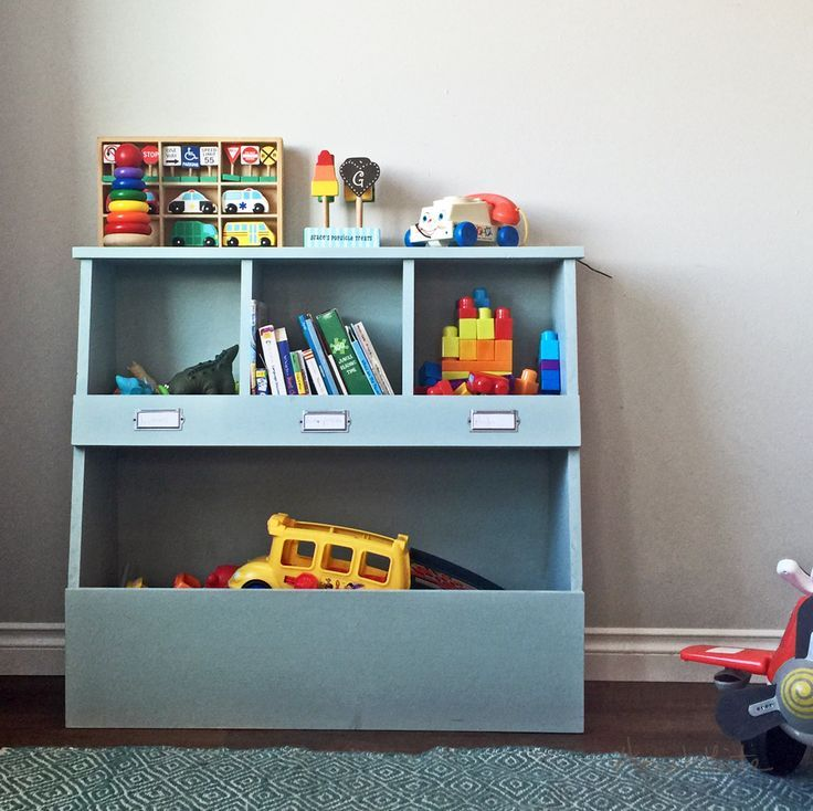 Toy Bin Box With Cubby Shelves Toy Storage Bins Toy Storage Shelves Diy Toy Storage