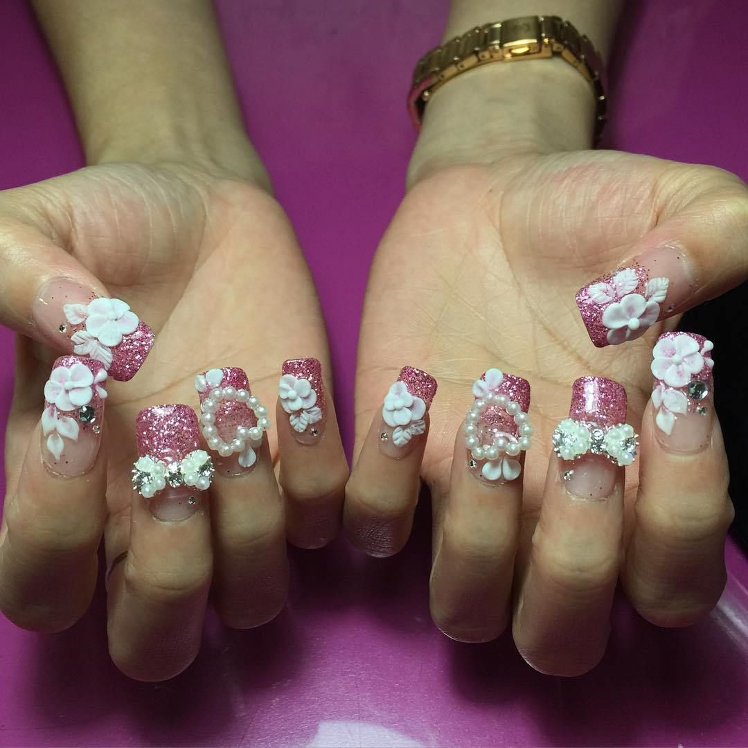 30 Best 3d Acrylic Nail Designs 2018 A Nail Designer Can Combine A