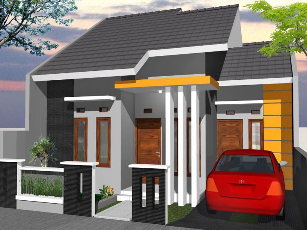 60 Gambar Rumah Minimalis 1 Lantai Tampak Depan dan Warna