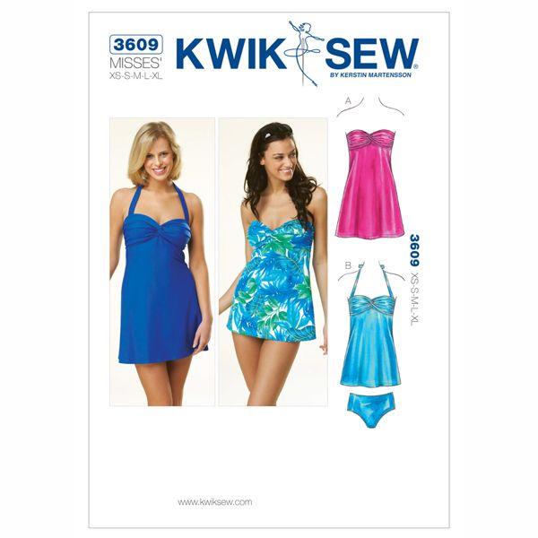 Tankini | Badekleid, KwikSew 3609 | XS - XL | Pinterest | Kleidung ...