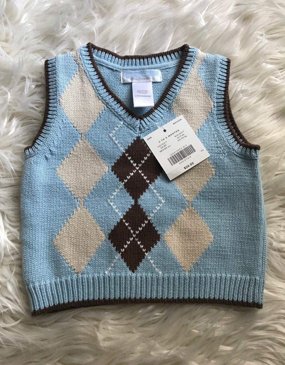 Janie & Jack Argyle 3-6 Mo. Sweater Vest