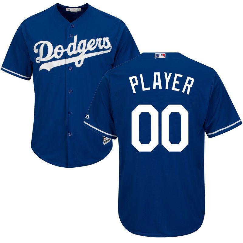 Los Angeles Dodgers Majestic Cool Base Custom Jersey Royal Dodgers Los Angeles Dodgers Dodgers Outfit