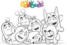 Colour In Oddbods Group Team Coloriage Pokemon Coloriage Animaux Coloriage