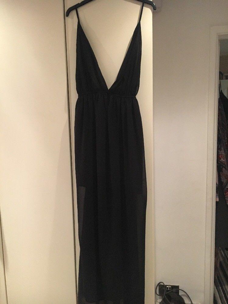 Black maxi dress size 12