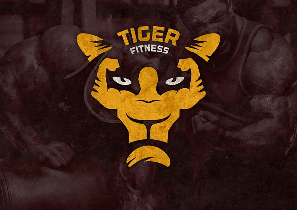 Tiger Fitness Center #logo #brand #identity #design #idea #tiger #fitness #muscle #animal #face #gold | Fitness logo design, Fitness logo, Fitness branding