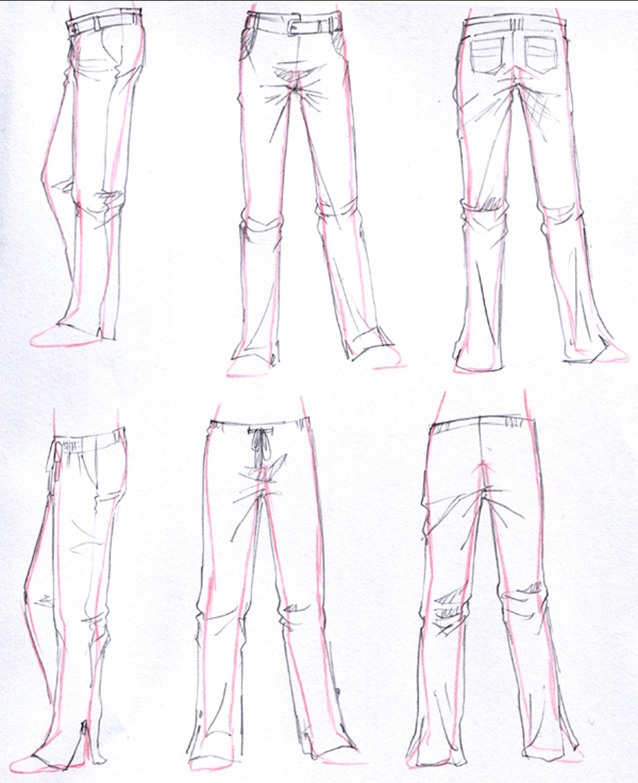 7 Pantalones largos | Drawing Costumes | Pinterest