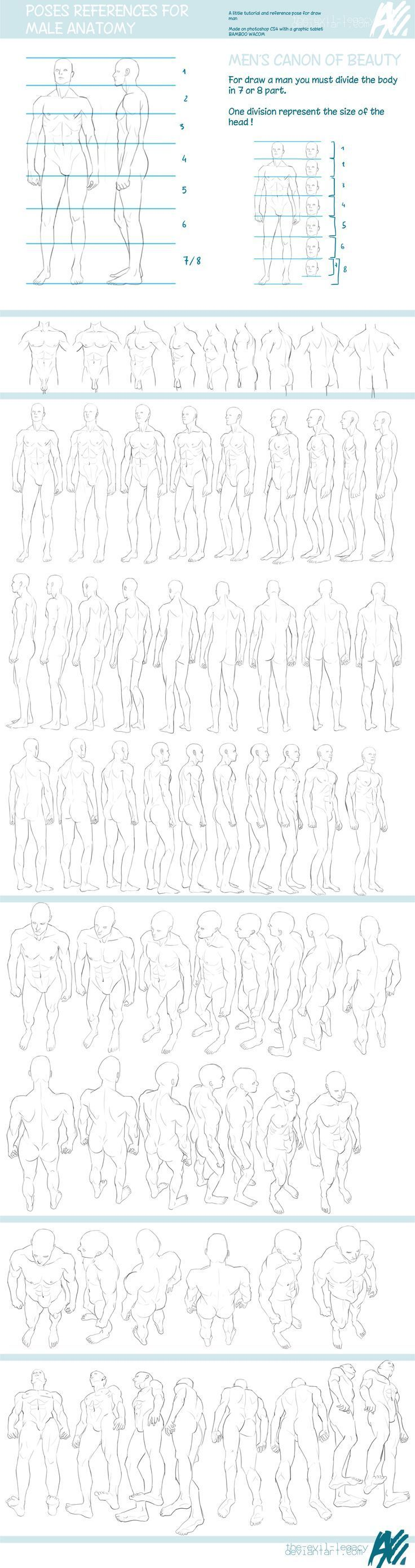 TUTO - male reference pose by ~the-evil-legacy on deviantART https ...