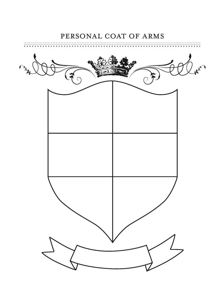 Honor Your Family With Fun Gratitude Crafts Coat Of Arms Pertaining To Blank Shield Template Printable Family Crest Template Shield Template Gratitude Crafts