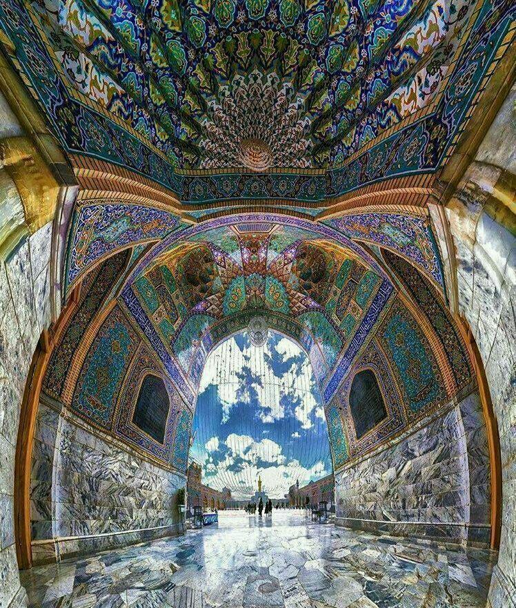 Entrance Hall To The Holy Shrine Of Imam Reza (PBUH