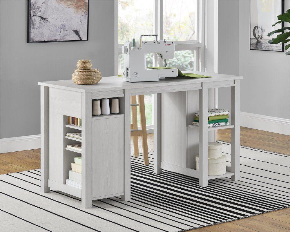 Greyleigh Buckhead Craft Table Reviews Wayfair Craft Table Wide Storage Cabinet Farmhouse Furniture