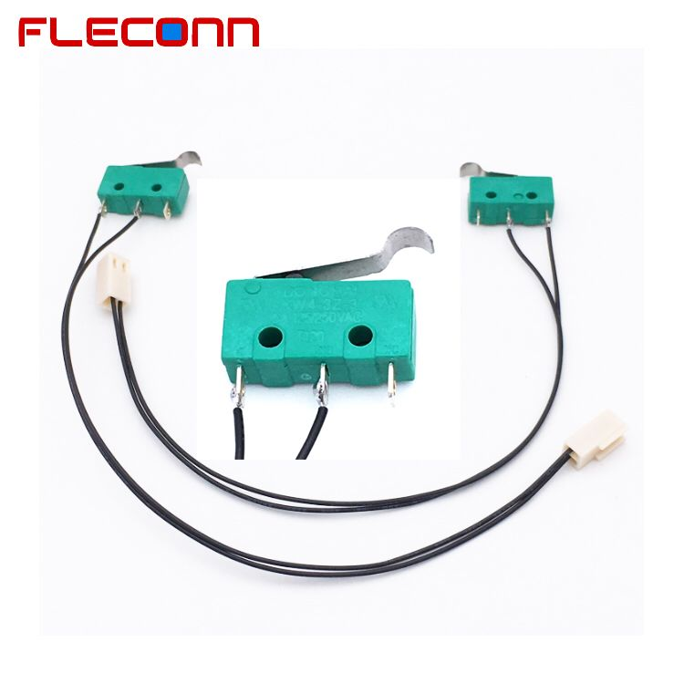 Custom 2 3 Pin Connector Wire Harness With Kw4 3z 3 Micro Switch Harness Wire Electronic Products