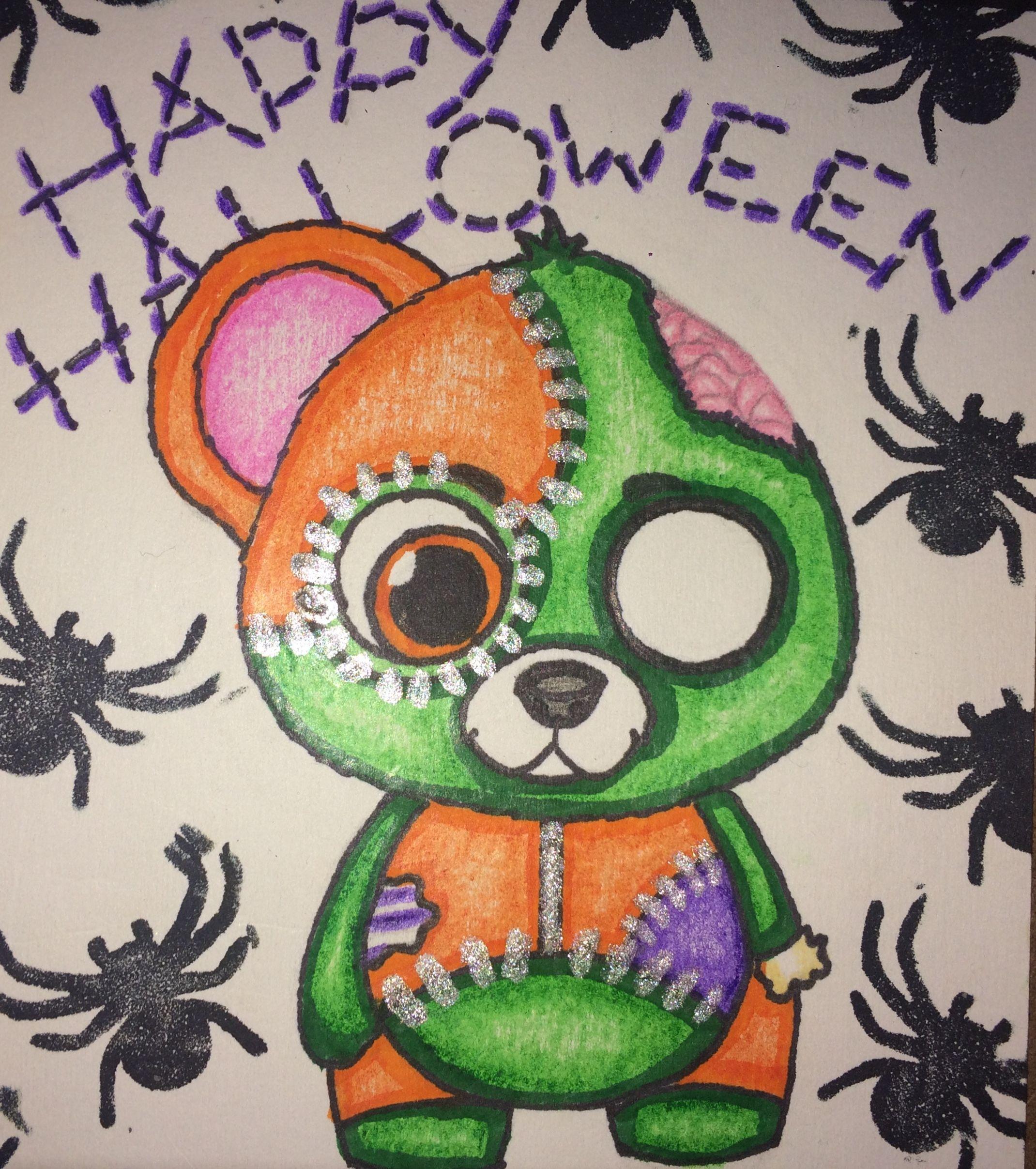 Halloween Zombie Bear Drawing By Saidivy Art Art All Art