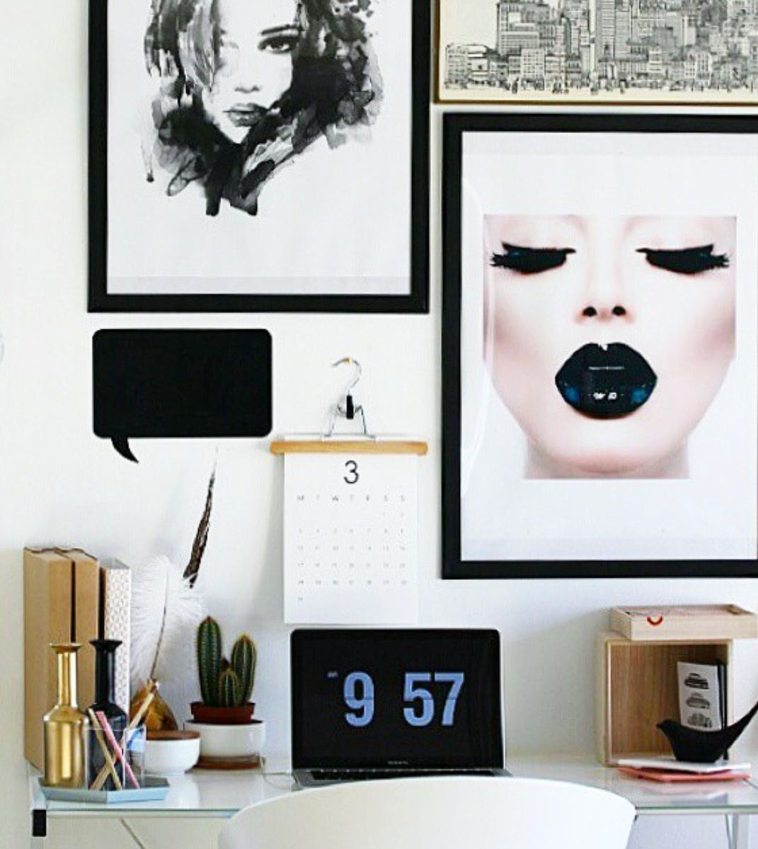 Fashion meets interior design. \'Black Lady\' print by Wera ...
