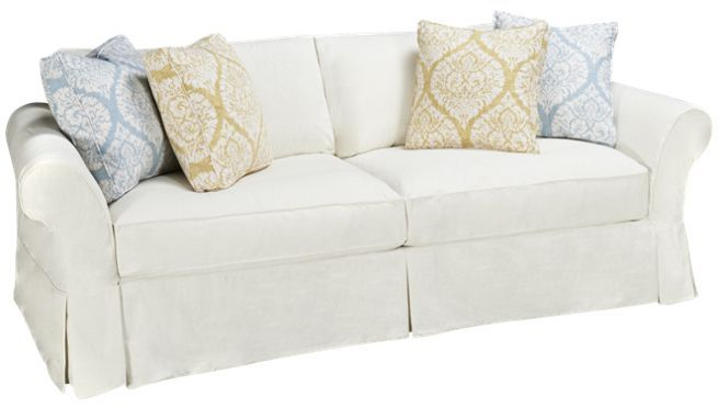 Four Seasons Alyssa Sofa With Slipcover Jordan S Furniture