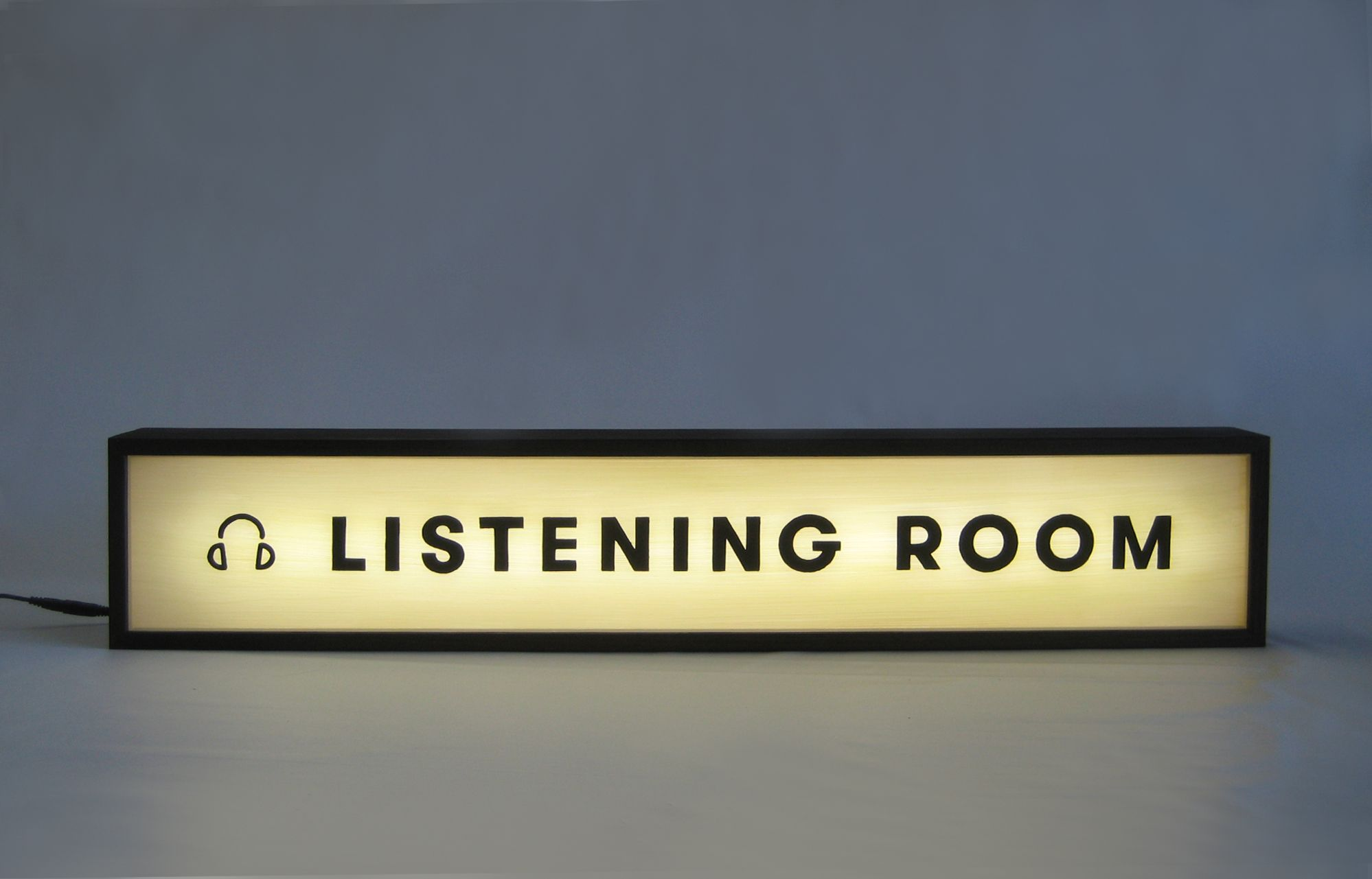 Custom Lightbox Handpainted Sign Delivered to Pitchfork Media, World