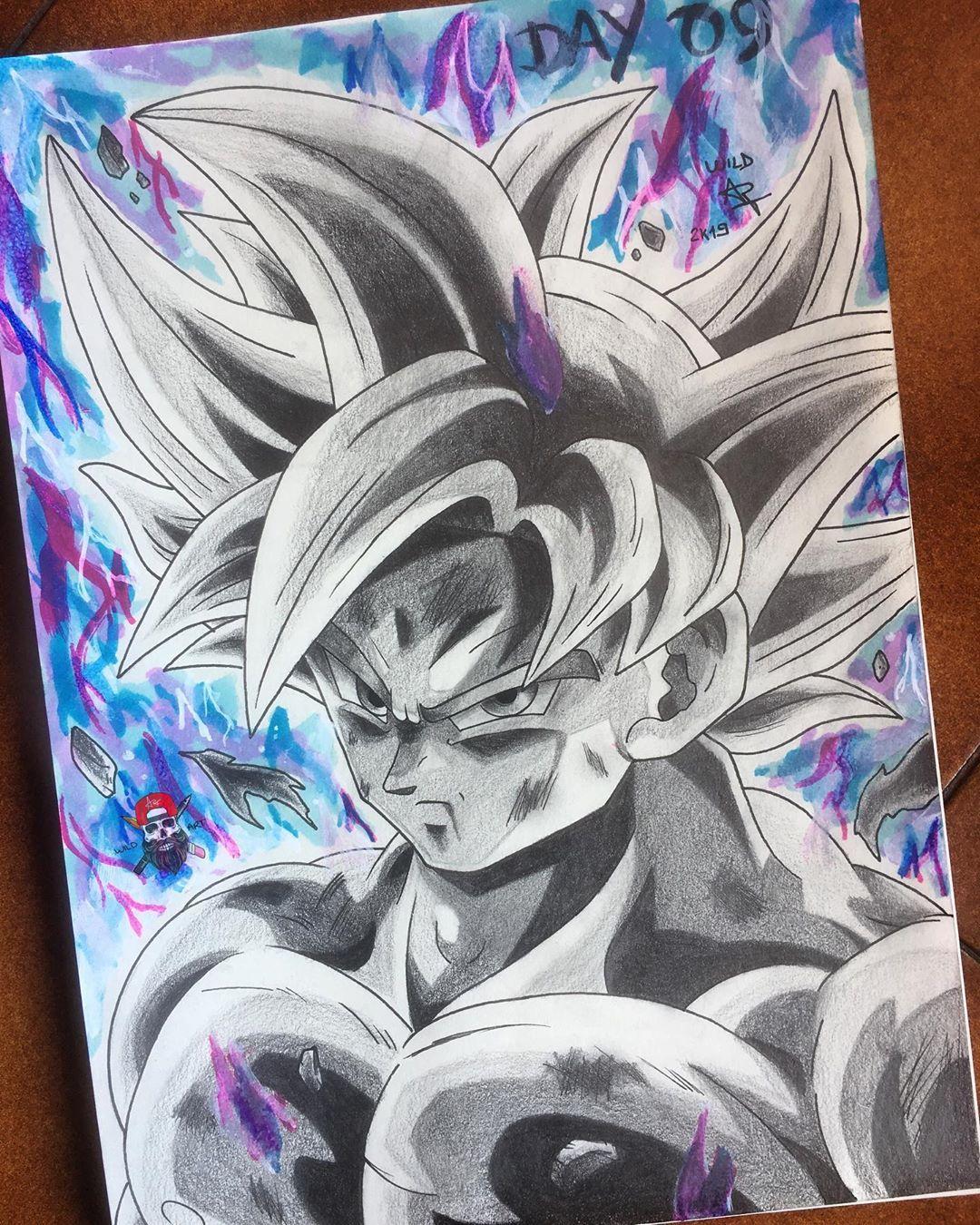 Day 09 Goku Mastered Ultra Instinct The Ninth Draw For Aprink A Kind Of Inktober Only Pencil Fine Dragon Ball Super Artwork Goku Drawing Dragon Ball Artwork
