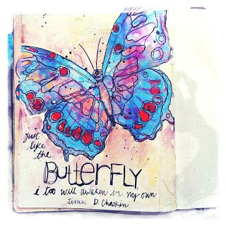 Art from the Heart: Blue Butterfly Day