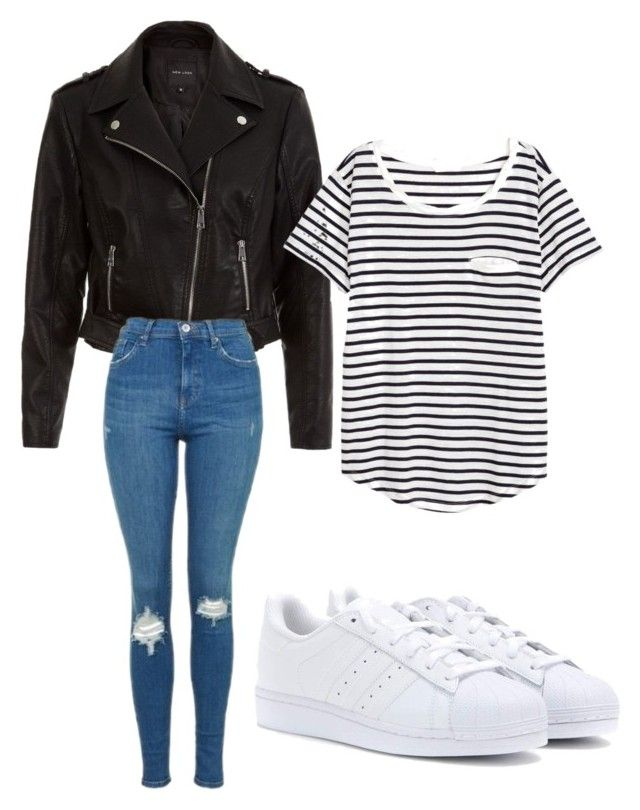 """Casual Collective"" by chloegraham1623 on Polyvore featuring New Look, H&M, Topshop and adidas"