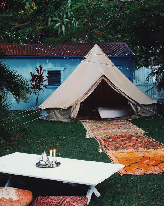 VINSTAGE'4u | Bell tent, Tent, Backyard on Outdoor Living 4U id=16332