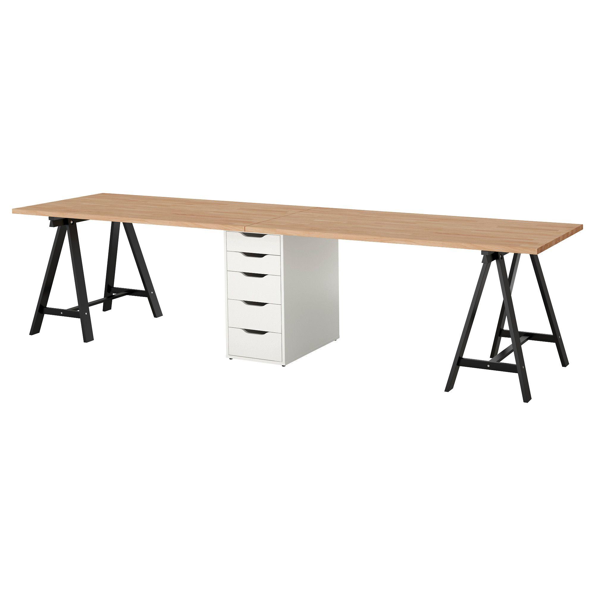 IKEA - GERTON Table beech, black white | Products | Ikea ... - Table Bureau Ikea