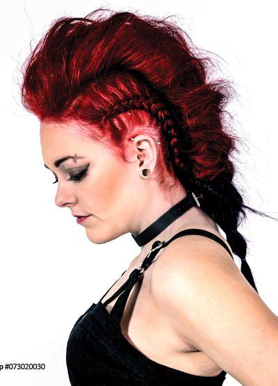 Punk rock hairstyle Vampire red Manic Panic Red hairdye