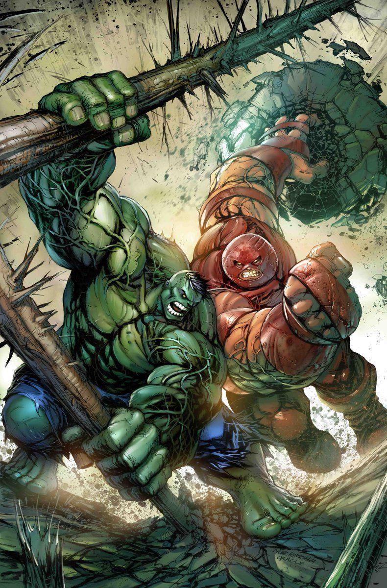 Hulk #Fan #Art. (Hulk vs Juggernaut! Art) By: Tyler Kirkham, (Color ...