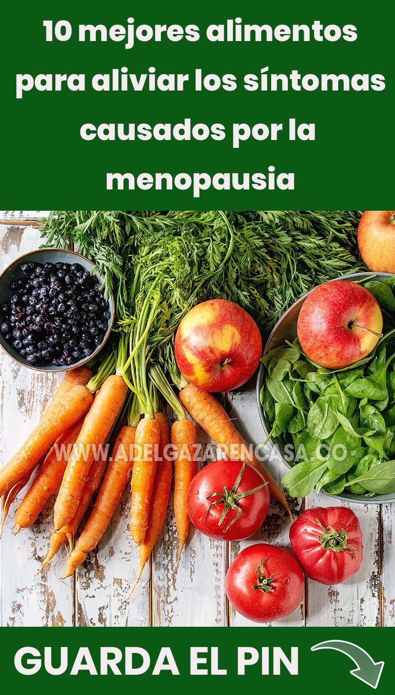 mejores alimentos para bajar de peso en la menopausia