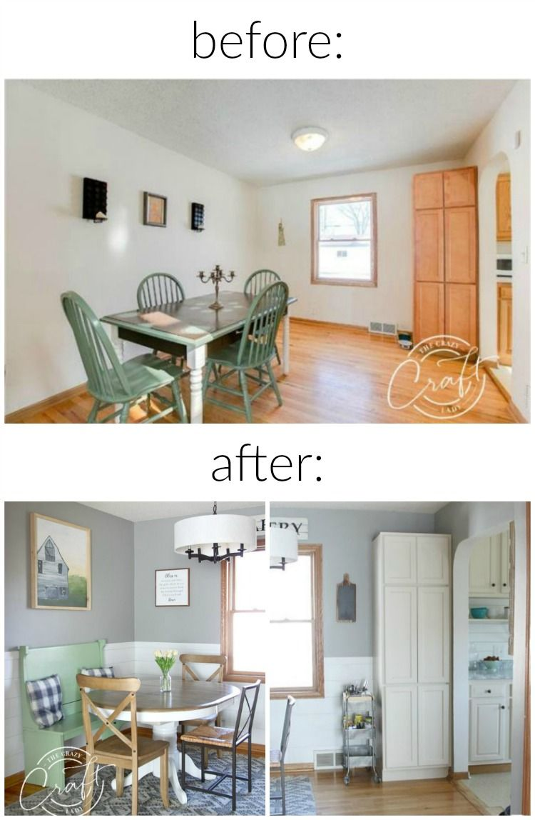 My Faux Shiplap Chair Rail And Farmhouse Dining Room Reveal Farmhouse Dining Room Dining Room Office Dining Room Colors