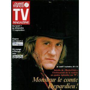 TV Magazine Ouest-France (n°16367) du 04/09/1998 - Gérard Depardieu - Johnny Hallyday - Harrison Ford - X-Files - Urgences - Céline Dion - ... [Magazine mis en vente par Presse-Mémoire]
