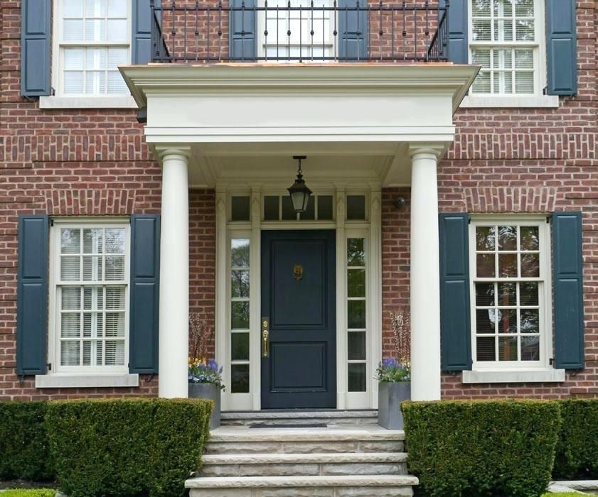 Red Brick House Front Door Shutter Colors For Red Brick House Red