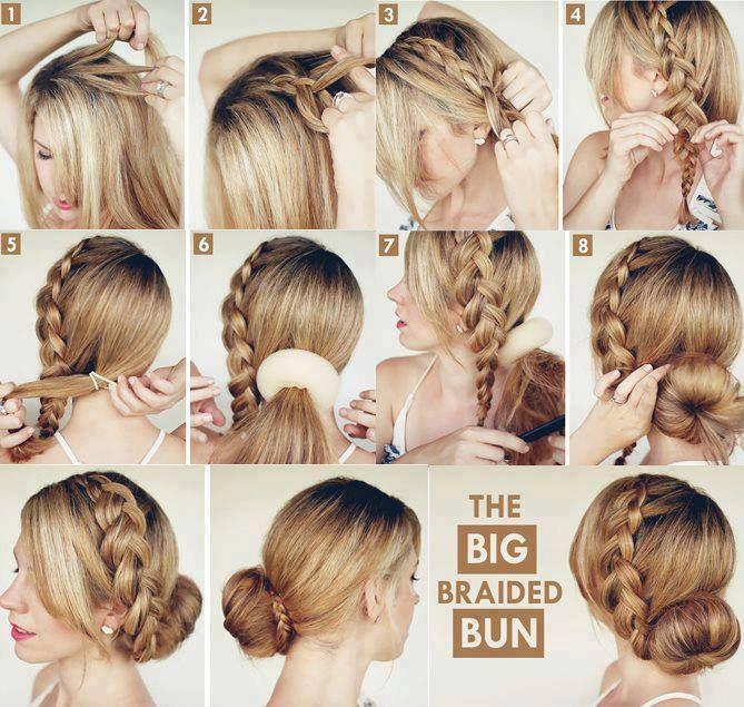 Braided Bun Hair Styles Womens Hairstyles Braided Bun