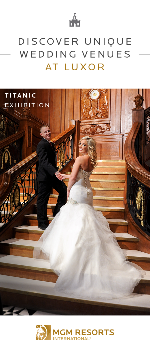 One of a kind wedding dresses  Get married at Luxor in a oneofakind wedding setting like the
