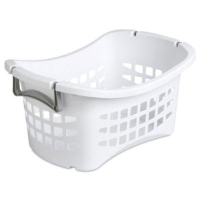 Sterilite 12118006 1 1 2 Bushel Ultra Stacking Laundry Basket White White Laundry Basket Laundry Basket Laundry