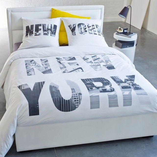 housse de couette imprimée new-york la redoute interieurs | ok