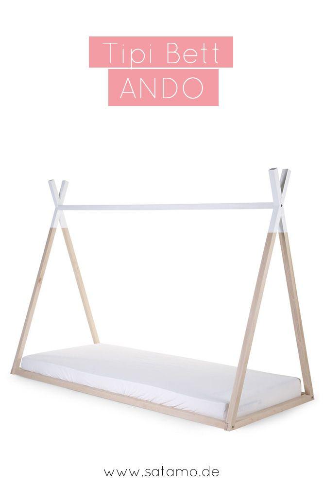 Tipi Bett ANDO in 70x140 und 90x200 online kaufen Pinterest Tipi - das moderne kinderzimmer