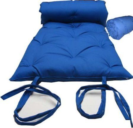 Brand New Queen Size Royal Blue Traditional Japanese Floor Futon Mattresses Foldable Cushion Mats