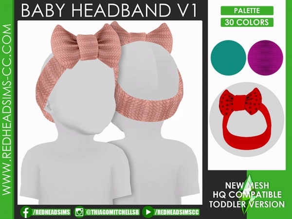 BABY HEADBAND V1 - The Sims 4 Download - SimsDom RU in ...