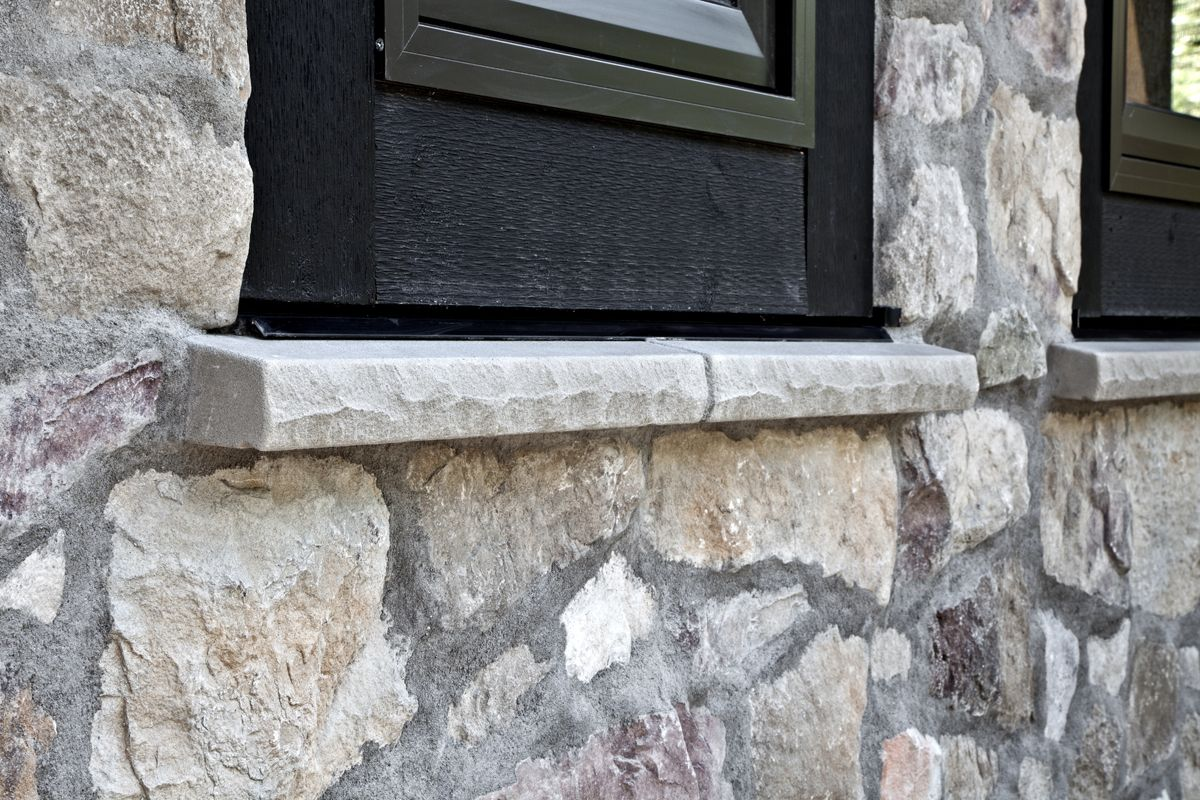 Watertable Sill Stonetransitions Stone Stone Design Feature Wall
