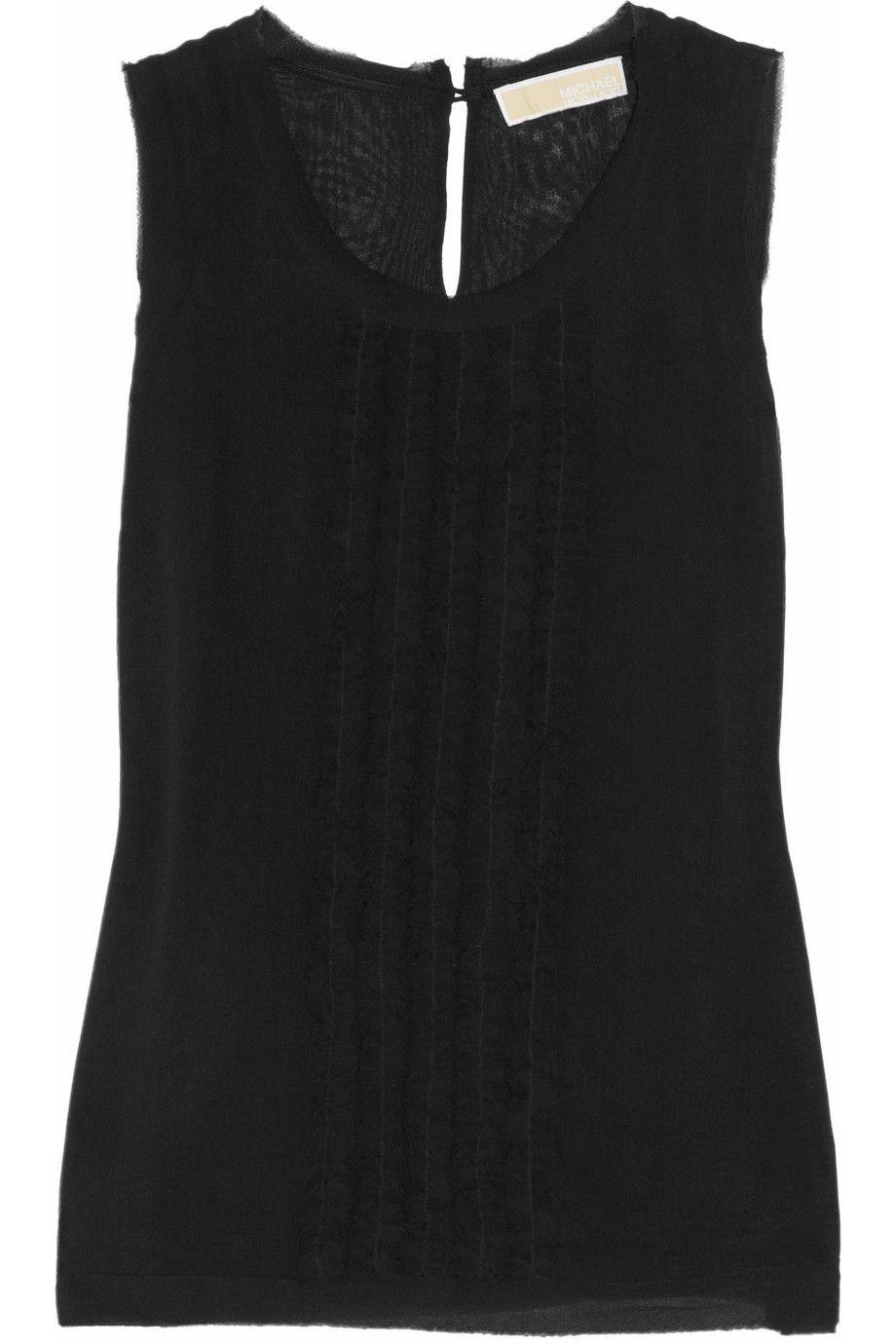 MICHAEL MICHAEL KORS Ruffled silk-georgette top $120