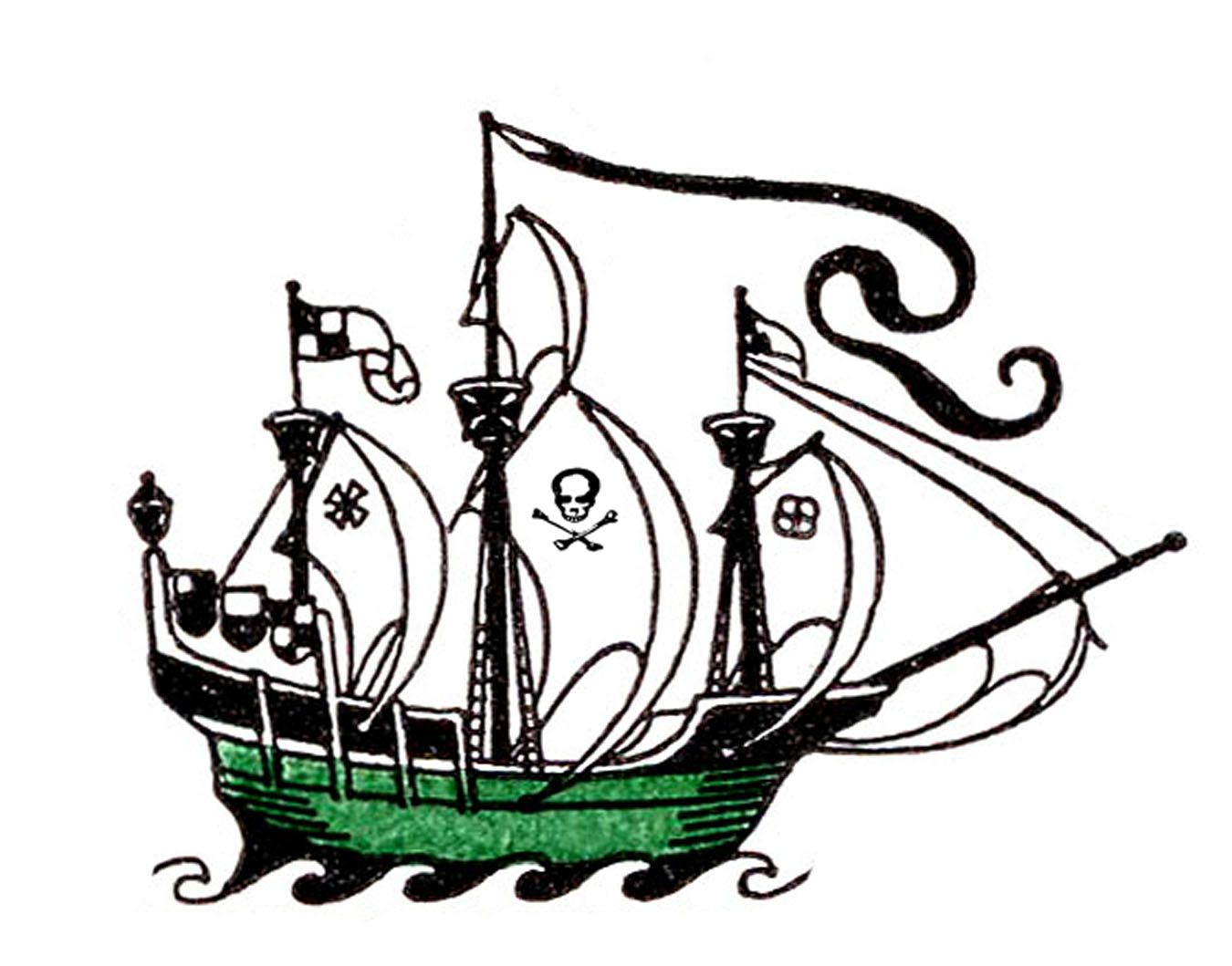 vintage clip art pirate ship pirate ships graphics fairy and rh pinterest ca