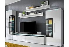 Photo of Wall unit (6 pcs.), High gloss to buy online- Wohnwand (6-tl…